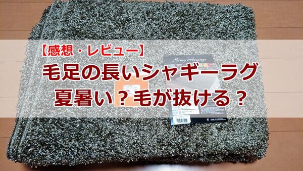 シャギーラグは夏は暑いし毛が抜ける?【感想】シャギーラグで毛足の長い日本製のレーベン2を使ってみたよ
