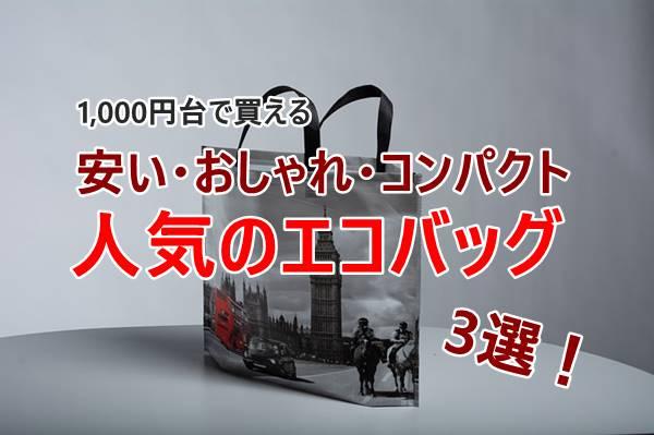 エコバッグで安いけどおしゃれでコンパクトに折りたためる!1000円台で人気はこれ!
