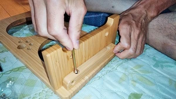良木工房ペット用食器台組立