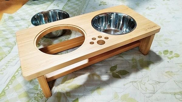 良木工房ペット用食器台完成