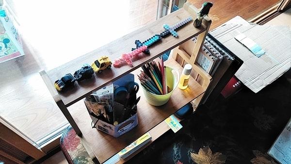 良木工房キッチンラック (本棚として)