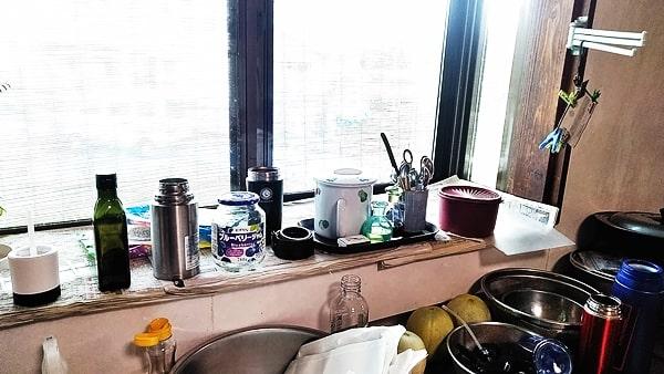 キッチン出窓部分